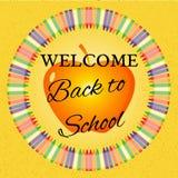 Zurück zu Schuleabbildung Lizenzfreie Stockbilder