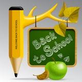 Zurück zu Schuleauslegung stock abbildung