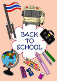 Zurück zu Schuleclipc$kunst-illustration Stockfotos