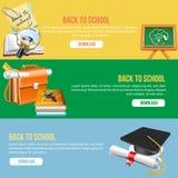 Zurück zu Schulefahne Lizenzfreies Stockfoto