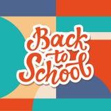 Zurück zu Schulefahnenschablone Lizenzfreies Stockfoto