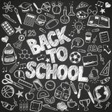 Zurück zu Schulegekritzeln Lizenzfreies Stockfoto