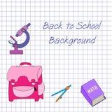 Zurück zu Schulehintergrund Lizenzfreie Stockbilder