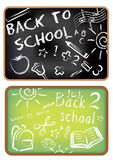 Zurück zu Schulhintergrund Lizenzfreies Stockbild