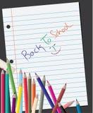 Zurück zu Schulehintergrund Lizenzfreie Stockfotos