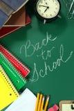 Zurück zu Schuleinzelteilen mit Kopien-Raum Lizenzfreies Stockbild