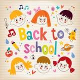 Zurück zu Schulekindern Stockfoto