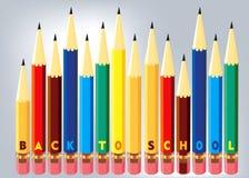 Zurück zu Schulekonzept Stockfoto
