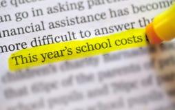 Zurück zu Schulekosten Stockfotos