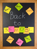 Zurück zu Schuleliste Stockfoto