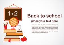 Zurück zu Schulethema vctor Abbildung Lizenzfreies Stockfoto
