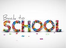 Zurück zu Schulevektorabbildung Lizenzfreies Stockbild