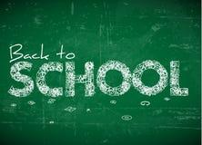Zurück zu Schulevektorabbildung Stockfoto