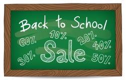Zurück zu Schuleverkauf Lizenzfreie Stockfotos
