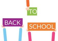 Zurück zu Schulezeichen vektor abbildung
