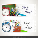 Zurück zu Schulfahnen Lizenzfreie Stockbilder