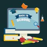 Zurück zu Schulgraphik Lizenzfreies Stockbild