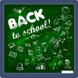 Zurück zu Schulhintergrund auf Tafel Stockbild