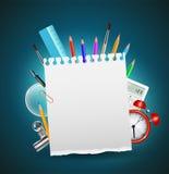 Zurück zu Schulhintergrund oder -karte Lizenzfreie Stockbilder