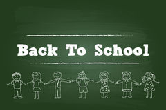 Zurück zu Schulkindern Lizenzfreie Stockfotos