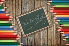 Zurück zu Schulkonzept auf englisch stockfotos