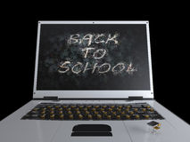 Zurück zu Schulkonzepthintergrund mit Notizbuch Lizenzfreies Stockbild