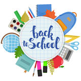 Zurück zu Schulkreis-Formschablone Lizenzfreie Stockbilder