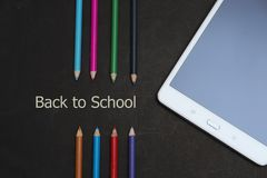 Zurück zu Schullandschaft Lizenzfreie Stockfotos