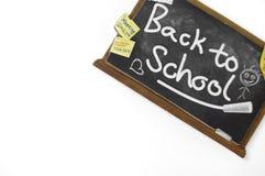 Zurück zu Schulpappzeichen lizenzfreie stockfotos