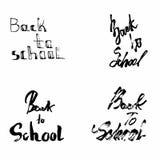 Zurück zu Schultypographie Lizenzfreies Stockbild
