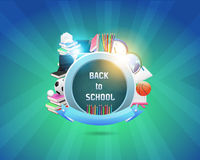 Zurück zu Schulvektor-Design Stockbilder