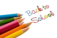Zurück zu speziellem Abkommen der Schule Lizenzfreies Stockbild
