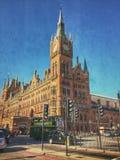 Zurück zu vorüber Cross St Pancras Königs Stockbilder