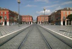 Zurückgestellter Platz Massena - Nizza Frankreich Stockfotografie