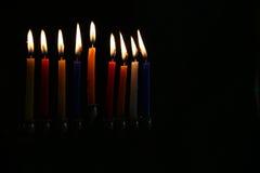 Zurückhaltendes Bild jüdischen Feiertag Chanukka-Hintergrundes Stockfotos