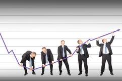 Zurückstellen der abnehmenden Tendenz Lizenzfreies Stockfoto