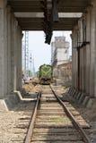 Zurückstellende Lokomotive Stockfotos