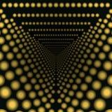 Zurücktreten in die gelben Lichter des Abstandstunnels Lizenzfreie Stockfotografie