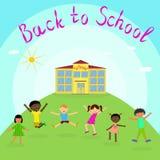 Zur?ck zu Schule Verschiedene Kinder lizenzfreie abbildung