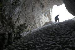 Zur Höhle Lizenzfreies Stockfoto