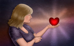 Zur Liebe oder nicht lieben lizenzfreies stockbild