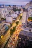 Zur Mitte von Sao Paulo Lizenzfreies Stockbild