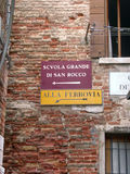Zur Serie Venedig Italien stockfotografie
