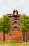 Zuraw crane tower (XIII c.) of Torun town, Poland Stock Image