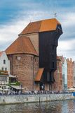 Zuraw - symbol morska historia Gdański Fotografia Stock