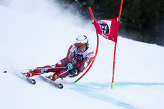 ZURBRIGGEN Elia in Audi Fis Alpine Skiing World-Kop Stock Fotografie
