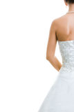 Zurück von der Braut Stockfotografie