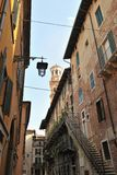 Zurück von Palazzo Mazzanti, Verona, Italien, Europa Stockbilder