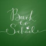Zurück zu Schulbeschriftung Lizenzfreie Stockbilder