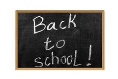 Zurück zu Schule auf einer Tafel Lizenzfreies Stockbild